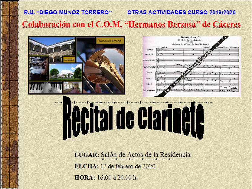 Recital de Clarinete